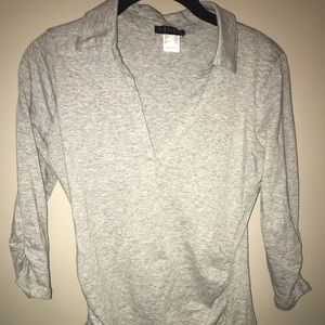 NWOT. Gray Venus Collared Shirt Size XS